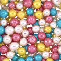 ASSORTED COLOR METALLIC DRAGEES - 8.5MM