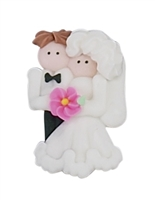 Caucasian Bride & Groom - Large