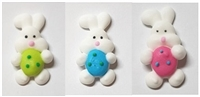 Royal Icing Bunny With Easter Egg (Small) - Assorted Colors