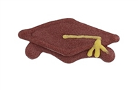 Graduation Cap - Burgundy with Gold Tassel