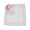 Large Baby In A Blanket - White With Pink