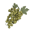 Grape Bunch With Leaves - Moss Green