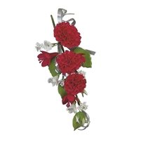 Carnation Corsage - Red