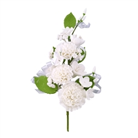 Carnation Corsage - White