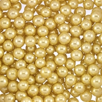 Non-Edible Metallic Gold Dragees - 6mm