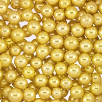 Non-Edible Metallic Gold Dragees - 8mm