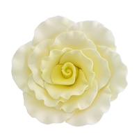 XXL Gum Paste Formal Rose - Yellow