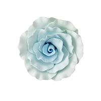 XXL Gum Paste Formal Rose On A Wire - Blue