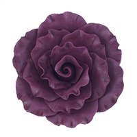 XXL Gum Paste Formal Rose On A Wire - Burgundy