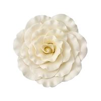Jumbo Gum Paste Formal Rose - Ivory
