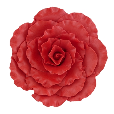 Jumbo Gum Paste Formal Rose - Red