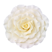 Jumbo Gum Paste Formal Rose - White