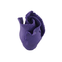 Gum Paste Formal Rosebud On A Wire - Purple
