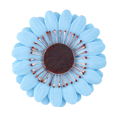 Large Gum Paste Gerbera Daisy - Blue