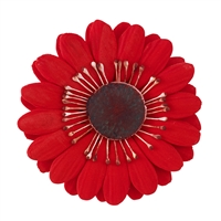 Large Gum Paste Gerbera Daisy - Red