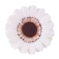 Large Gum Paste Gerbera Daisy - White