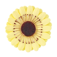 Large Gum Paste Gerbera Daisy - Yellow
