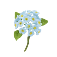 Mini Gum Paste Hydrangea Bunch - Blue