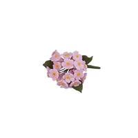 Mini Gum Paste Hydrangea Bunch - Pink