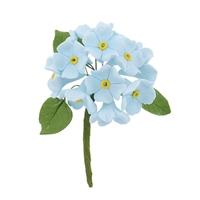 Small Gum Paste Hydrangea Bunch - Blue