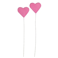 Gum Paste Heart On A Wire - Pink