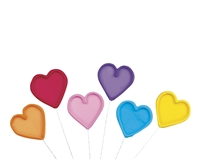 Large Gum Paste Heart On A Wire - Assorted Colors