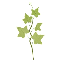 5 Leaf Gum Paste Ivy Leaf Spray  - Moss Green
