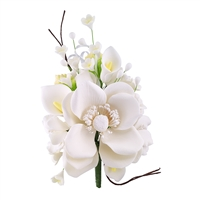 Gum Paste Wind Anemone Spray - All White
