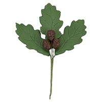 Large Gum Paste Oak Leaf Cluster - Moss Green