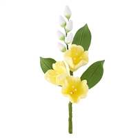 Gum Paste Blossom Spray - Yellow