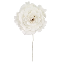 Large Gum Paste Peony Blossom - All White