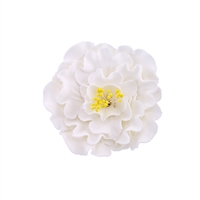 Large Gum Paste Peony Blossom - White With Yellow Stamens