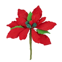 Medium Gum Paste Deluxe Poinsettia - Red