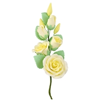 Gum Paste Rose And Rosebud Corsage - Yellow