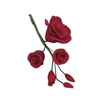 Gum Paste Rose Filler - Red
