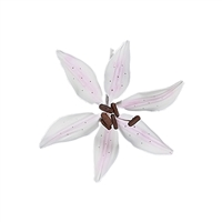 Medium Gum Paste Stargazer Lily - Pale Pink