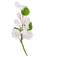 Gum Paste Sweet Pea Corsage - White