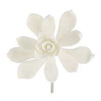 Gum Paste Succulent - White
