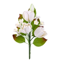 Gum Paste Tulip Spray - white