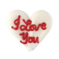 Large Royal Icing Conversation Heart -  I Love You