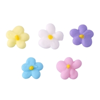 Small Royal Icing Drop Flower - Assorted Colors