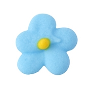 Small Royal Icing Drop Flower - Blue