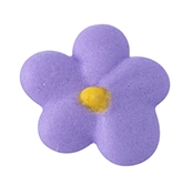 Small Royal Icing Drop Flower - Lavender