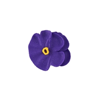 Small Royal Icing Pansy  - Purple