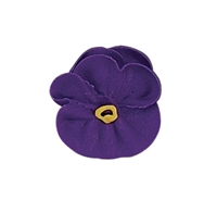 Large Royal Icing Pansy - Purple