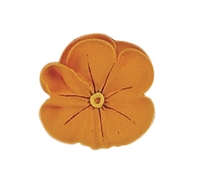 Large Royal Icing Pansy - Golden Yellow