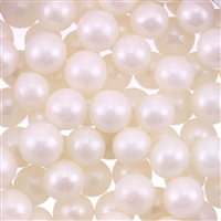 10mm Edible Pearlized Dragees - White Gloss