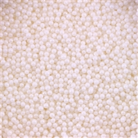 2mm Edible Pearlized Dragees - White Gloss