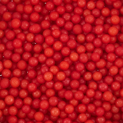 4mm Edible Pearlized Dragees - Red Gloss