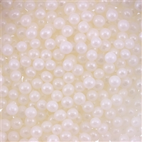 4mm Edible Pearlized Dragees - White Gloss